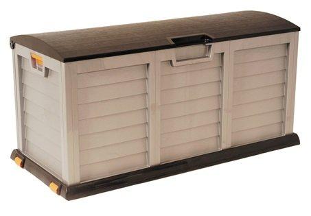 Plastic 390L Mocha Garden Storage / Cushion Box / Shed