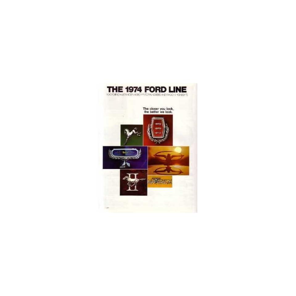 1974 Ford Sales Brochure Literature Advertisement Piece Options Colors Book