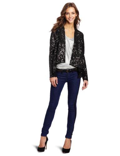 Bb Dakota Women'S Remi Jacket, Black/Silver, Large