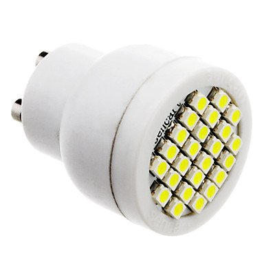 Gu10 2W 24X3528Smd 70-100Lm 6000-6500K Natural White Light Led Spot Bulb (85-265V)