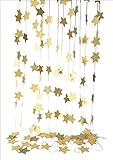 おもちゃの神様 星形パーティー モール ゴールド 4メートル 3個セット 飾り お誕生日 飾り付け グッズ イベント パーティー (7cm)