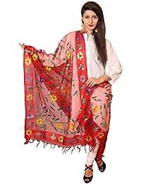 Vasavi Women's Silk Dupatta (Red)[Get Additional 10 % Discount ] ] The Great Indain Sale