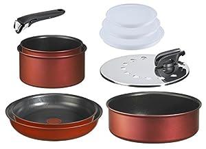 Tefal L3219902 Ingenio Induction - Batterie de cuisine Set de 10 Pièces Aluminium Rouge Surprise : 2 Casseroles (16/20 cm) + 2 poêles (22/26 cm) + 1 Sauteuse (24 cm) + 3 Couvercles hermétiques (16/18/20 cm) + 1 couvercle antiprojection (20/26 cm) + 1 poignée