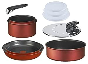 Tefal L3219902 Ingenio Induction - Batterie de cuisine Set de 10 Pièces Aluminium Rouge Surprise : 2 Casseroles (16/20 cm) + 2 poêles (22/26 cm) + 1 Sauteuse (24 cm) + 3 Couvercles hermétiques (16/18/20 cm) + 1 couvercle antiprojection (20/26 cm) + 1 poignée