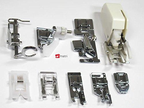 Accessori macchina da cucire kit di 9 piedini universali for Accessori macchina
