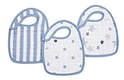 aden + anais Classic Snap Bib, Rock Star, 3 Pack