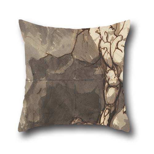 Pillow Covers 18 X 18 Inches / 45 By 45 Cm(2 Sides) Nice Choice For Dining Room,couch,teens Girls,bf,shop,birthday Oil Painting Henry Fuseli - Study For The 'Finding Of The Body Of Bassanio' (Ensiferum Iron compare prices)