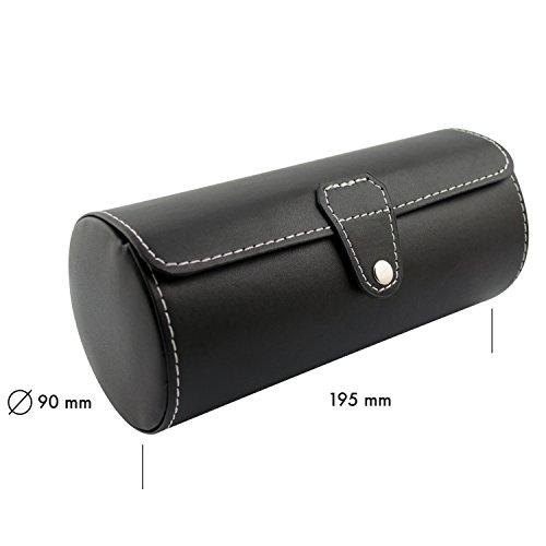 venkon uhrenbox fr 3 armbanduhren aufbewahrung prsentation. Black Bedroom Furniture Sets. Home Design Ideas