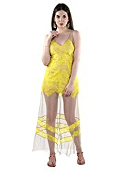 TWIST N WRAPS BY NIDHI Women's Maxi Dress (TNW-BK-1110_S_Yellow _Small)