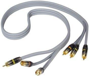 Monster Cable M Silver Video M1000CV-1M - Video cable - component video - RCA (M) - RCA (M) - 3.3 ft - double shielded