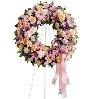 Funeral Flowers – Graceful Wreath Bouquet