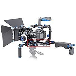 Neewer Aluminum Alloy Rail Movie Making System 15mm Rod Rig Baseplate with 1/4