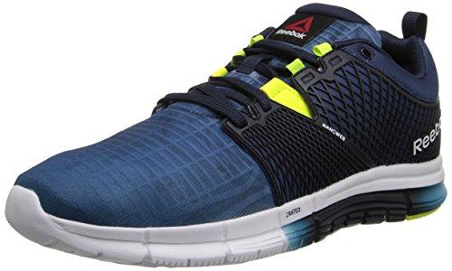 Reebok Men's Zquick Dash City Running Shoe, Batik Blue/Faux Indigo/White/Solar Yellow, 9.5 M US