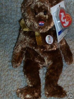 TY Beanie Baby - CHAMPION the FIFA Bear ( Croatia ) - 1