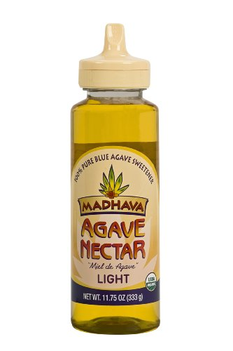 Madhava Organic, Agave Nectar - Light, 11.75-Ounce Squeeze Bottles (Pack of 12)
