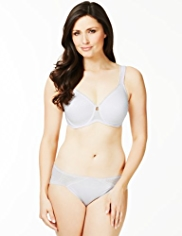 Textured Underwired Minimiser C-G Bra