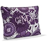 Thirty-One Zipper Pouch in Plum Awesome Blossom - No Monogram - 3045