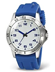 Round Face Adjustable Strap Analogue Sports Watch