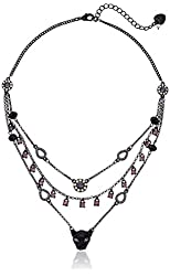 """Betsey Johnson """"Panther"""" Pave Panther Illusion Necklace, 17"""" + 3"""" Extender"""
