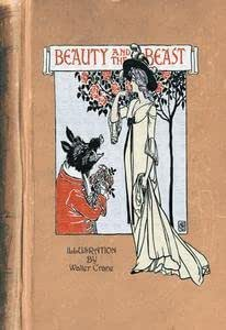 Beauty and the Beast (book cover) - 12x18 Art Poster by Walter Crane