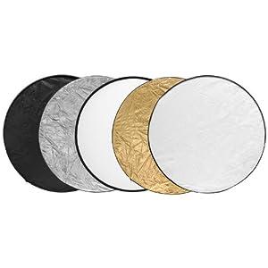 Falt Reflektoren Set 5 in 1 Rund Ø 80cm Gold Silber Schwarz Weiß Original Qualilux