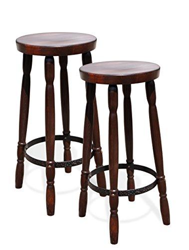 2-x-Barhocker-ohne-Lehne-Holz-Buche-Kolonial-Sitzhhe-75-cm-Sitzflche-35-cm-Buche-massiv