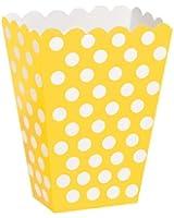 """Régal des boîtes 5-1/2 """"X 3-3/4"""" 8/Pkg-tournesol jaune points décoratifs"""