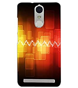PrintDhaba ELECTRIC PATTERN D-7026 Back Case Cover for LENOVO K5 NOTE (Multi-Coloured)