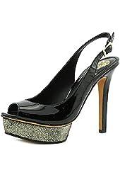 Vince Camuto Leala Womens Peep Toe Patent Leather Pumps Heels Shoes