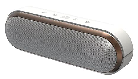Ministry of Sound Audio S plus Enceinte Bluetooth 5W 100 Hz Blanc/Or