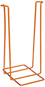 "Bel-Art Scienceware Poxygrid 132360000, 4"" Length x 5 1/8"" Width x 8"" Height,  Orange  Stand for Biohazard Sharp Objects Safety Pouch, with Epoxy-Coated Stainless Steel Wire Frame"