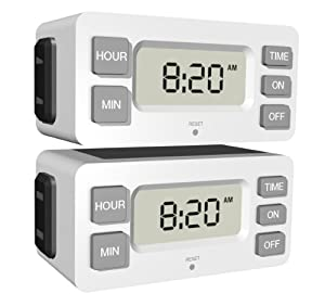 Stanley 38425 TimerMax Digislim Polarized 1-Outlet Digital Bar Timer, 2-Pack