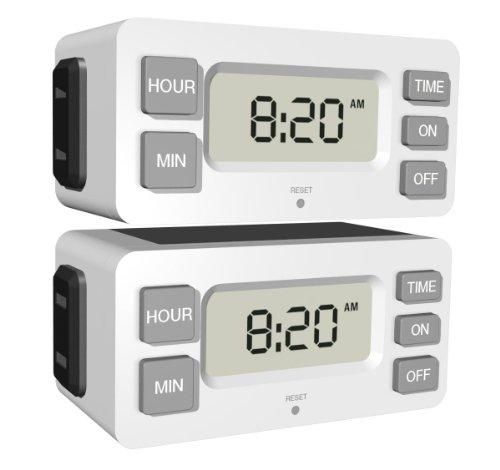 Stanley 38425 TimerMax Digislim Polarized 1-Outlet Digital Bar Timer, 2-Pack (Westinghouse Light Timer compare prices)