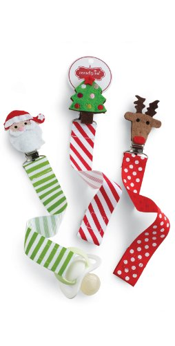 Mud Pie Christmas Pacifier Clip - 1