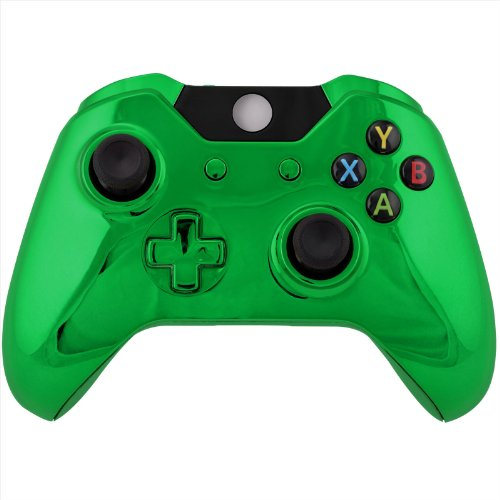 Chrome Green Full Shell Case Housing for Xbox One Wireless Controller