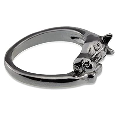 Unisex Horse Head Silver Ring for Crazy Horse Lovers Girl Boy Woman Man Equestrian