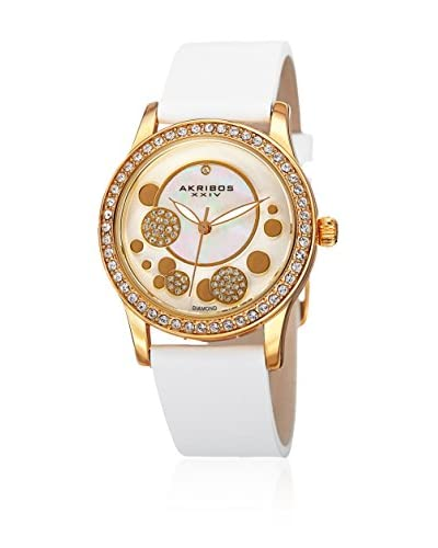 Akribos XXIV Orologio con Movimento Giapponese Women'S Diamond Leather Strap  34  mm