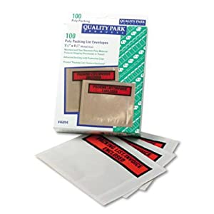 Quality Park 46894 Top-print front self-adhesive packing list envelopes with clear window, 100/box
