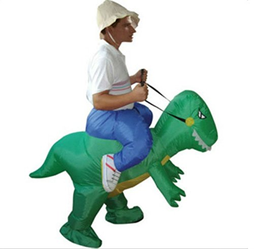 NEW Adult Halloween Funny Inflatable Dinosaur Party Costume