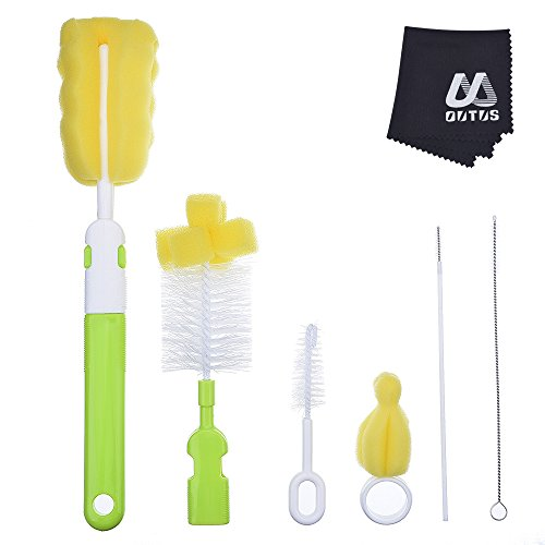 Outus Bottle Brush Cleaner Cleaning Brush Kit Sponge Brush for Cups Sports Bottle Baby Bottle, 7 Pieces (Baby Sport Bottle compare prices)