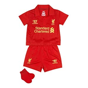 Warrior Kids Liverpool Football Club Home Set - High Risk Red 6-12mths by Warrior