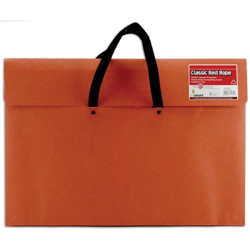 Star Products Classic Red Rope Soft Woven Handle Portfolio, 14-Inch by 20-Inch