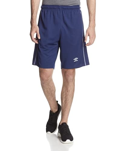 Umbro Men's Knit Active Short with Contrast Overlook