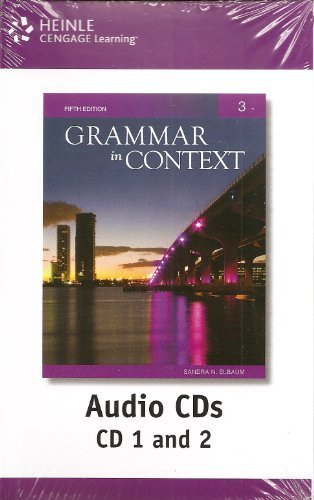 Grammar in Context 3 Audio CDs, 5th Edition