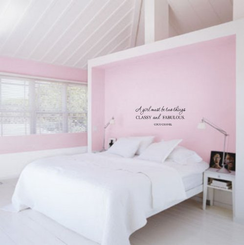 #1 A girl must be two things CLASSY and FABULOUS coco chanel wall art decal love vinyl letters
