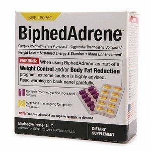 Biphedadrene 60ct from BiphedAdrene LLC (A Division of Generix Laboratories)