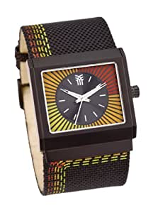 Fenchurch AE89.03FE - Reloj de mujer de cuarzo, correa de textil color negro