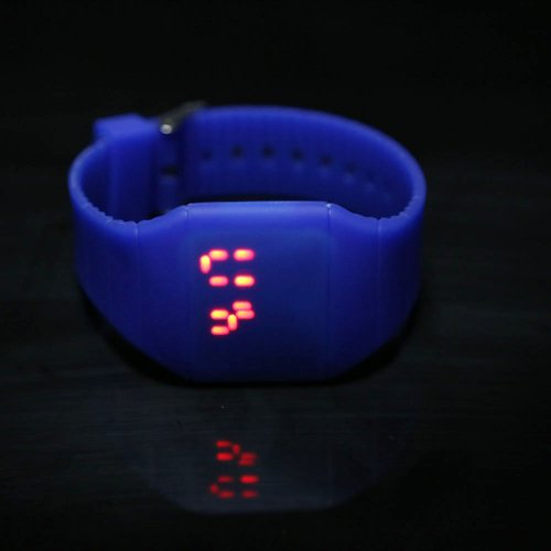 Vktech Touch Screen Led Wrist Watch Digital Silicone Unisex Sporty Watch (Royal Blue)