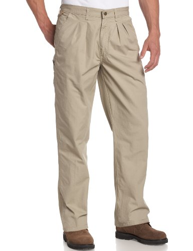 Wrangler Rugged Wear Men's Angler Jean, Relaxed Fit, Khaki
