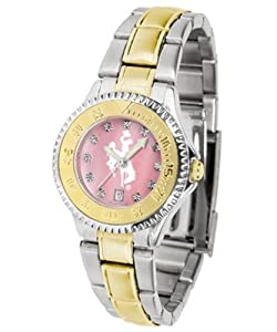 Wyoming Cowboys Competitor Ladies Watch with Mother of Pearl Dial and Two-Tone Band by SunTime